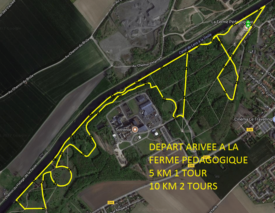 CIRCUIT 5 ET 10 KM FOULEE COURRIERES